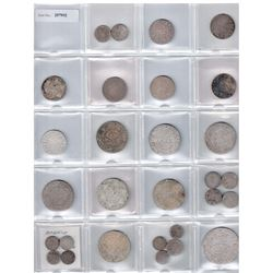 MOROCCO: LOT of 28 coins, a complete collection of silver issues from 1299-1314H, all Paris Mint