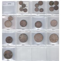 MOROCCO: LOT of 22 coins, a nice date collection of silver issues from 1313-1319H