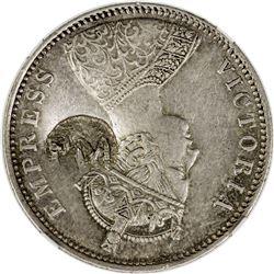MOZAMBIQUE: Carlos I, 1889-1908, AR rupee (450 reis), ND [ca. 1889]. NGC AU55