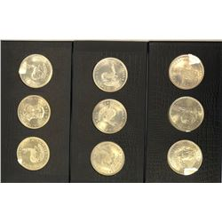 SOUTH AFRICA: SET of 14 five shillings (and one 50 cents)