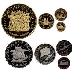 ANGUILLA: British Territory, 8-coin proof set, 1970