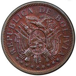 BOLIVIA: Republic, AE 5 bolivianos, 1951-KN. PCGS SP