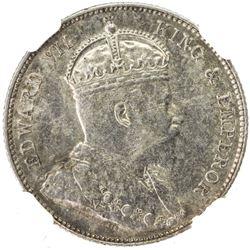 BRITISH HONDURAS: Edward VII, 1901-1910, AR 25 cents, 1907. NGC AU55