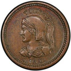 ANTICOSTI ISLAND: 1/8 penny token, 1870. PCGS MS64