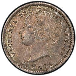 CANADA: Victoria, 1837-1901, AR 10 cents, 1871. PCGS AU58