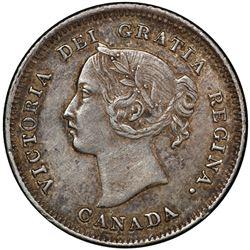 CANADA: Victoria, 1837-1901, AR 5 cents, 1883-H. PCGS AU