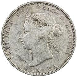 CANADA: Victoria, 1837-1901, AR 25 cents, 1885. F-VF