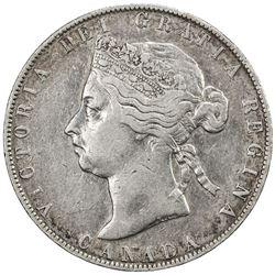 CANADA: Victoria, 1837-1901, AR 50 cents, 1892, KM-6, obverse 4, Fine