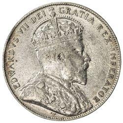 CANADA: Edward VII, 1901-1910, AR 50 cents, 1904. VF