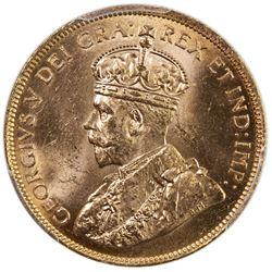 CANADA: George V, 1910-1936, AV 10 dollars, 1914. PCGS MS63
