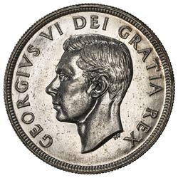 CANADA: George VI, 1936-1952, AR dollar, 1948. AU