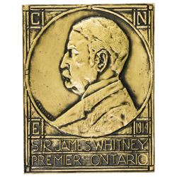 CANADA: AE plaque, 1915. EF