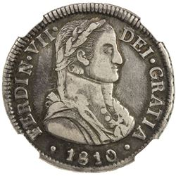 CHILE: Fernando VII, 1808-1817, AR 2 reales, 1810-So. NGC EF45