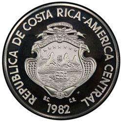 COSTA RICA: Republic, AR 250 colones, 1982. PCGS PF69