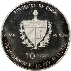 CUBA: Republic, AR 10 pesos, 1989. PCGS PF68