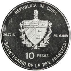 CUBA: Republic, AR 10 pesos, 1989. PF