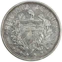 CUBA: Republic, AR souvenir peso, 1897. VF