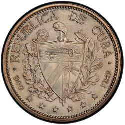 CUBA: Republic, AR souvenir peso, 1897. PCGS MS65