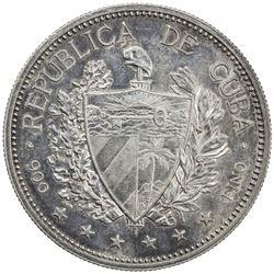 CUBA: Republic, AR souvenir peso, 1897. AU