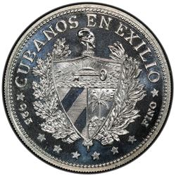 CUBA: Republic, AR souvenir peso, 1965. PCGS PF67