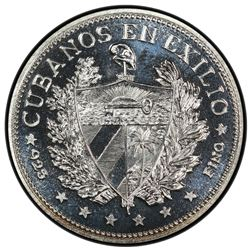 CUBA: Republic, AR souvenir peso, 1965. PCGS PF66