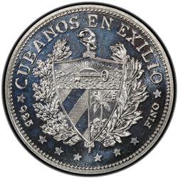 CUBA: Republic, AR souvenir peso, 1965. PCGS PF65