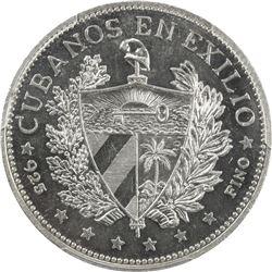 CUBA: Republic, AR souvenir peso, 1965. PCGS PF64