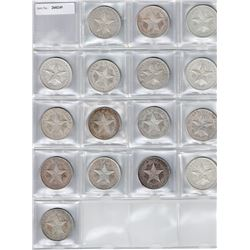 CUBA: LOT of 16 silver 'star' peso coins dated 1933