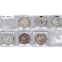 CUBA: LOT of 6 silver 'ABC' peso coins dated 1934