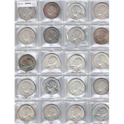 CUBA: LOT of 20 silver Commemorative types for the 100th Anniversary of José Martí