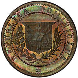 DOMINICAN REPUBLIC: AE centavo, 1877. PCGS SP64