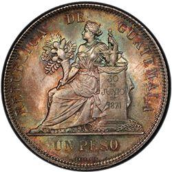 GUATEMALA: Republic, AR peso, 1894. PCGS MS65