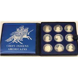 HAITI: Republic, 9-coin proof set, 1971. PF