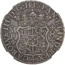 MEXICO: Carlos III, 1759-1788, AR 8 reales, 1768/7-Mo. NGC EF40