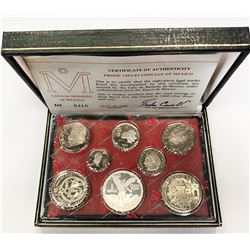 MEXICO: 8-coin proof set, 1982/83