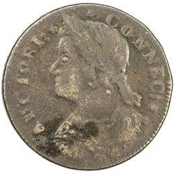 UNITED STATES: Connecticut copper, 1787. VF