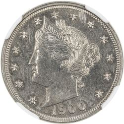 UNITED STATES: 5 cents, 1900