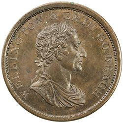 NEW ZEALAND: AE penny token, ND (1857). UNC