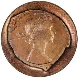 NEW ZEALAND: Elizabeth II, 1952, penny, 1961. ANACS MS64