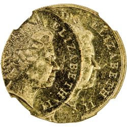NEW ZEALAND: Elizabeth II, 1952-, 2 dollars, 2008. NGC AU58
