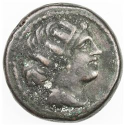 ROMAN REPUBLIC: Anonymous, AE semuncia (5.73g), Rome. VF
