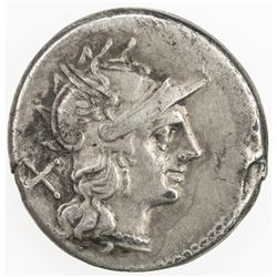 ROMAN REPUBLIC: Anonymous, AR denarius (3.65g), Rome. F-VF