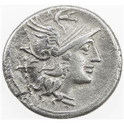 ROMAN REPUBLIC: Spurius Afranus, AR denarius (3.75g), Rome. VF