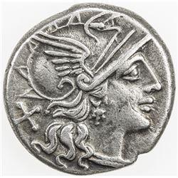 ROMAN REPUBLIC: Pinarius Natta, AR denarius (3.78g), Rome. VF-EF