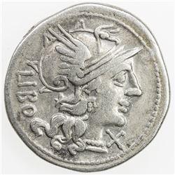 ROMAN REPUBLIC: Q Marcius Libo, AR denarius (3.77g), Rome. F-VF