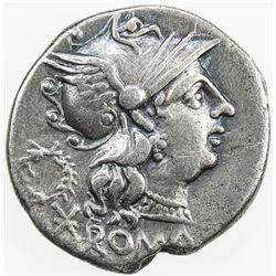 ROMAN REPUBLIC: C. Servilius M. f. AR denarius (3.81g), Rome. VF