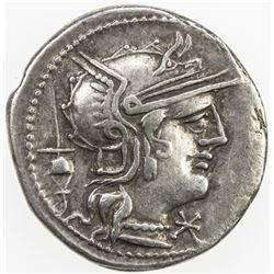 ROMAN REPUBLIC: L. Postumius Albinus, AR denarius (3.91g), Rome. VF