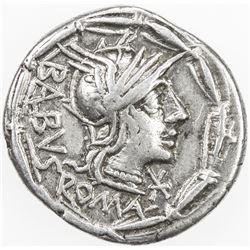 ROMAN REPUBLIC: Man. Acilius, AR denarius (3.91g), Rome. VF