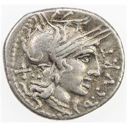 ROMAN REPUBLIC: Q. Curtius, AR denarius (3.86g), Rome. VF