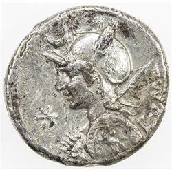 ROMAN REPUBLIC: P. Licinius Nerva, AR denarius (3.92g), Rome. VF